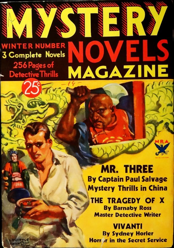 Mystery Novels Magazine No. 6 (Winter 1933-34). Cover Art by Lawrence Herndon