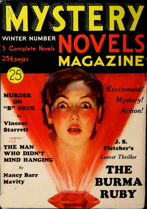 Mystery Novels Magazine No. 3 (Winter 1933). Cover Art by JAGI