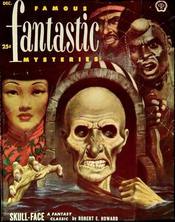 Famous Fantastic Mysteries (Dec., 1952). Cover Art by Lawrence Sterne Stevens