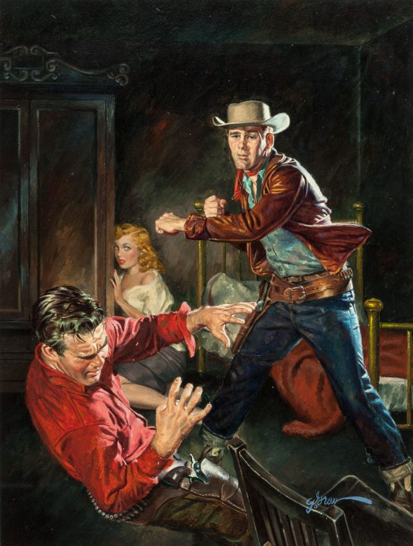 Outlaw Fury, paperback cover, 1952