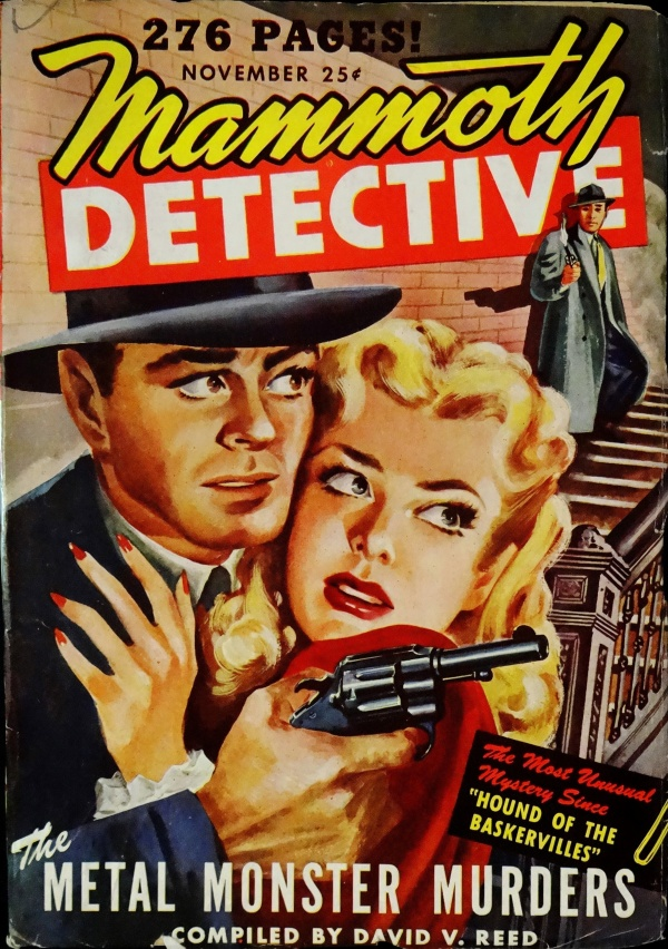Mammoth Detective Vol. 3, No. 4 (Nov., 1944). Cover Art by James Axelrod