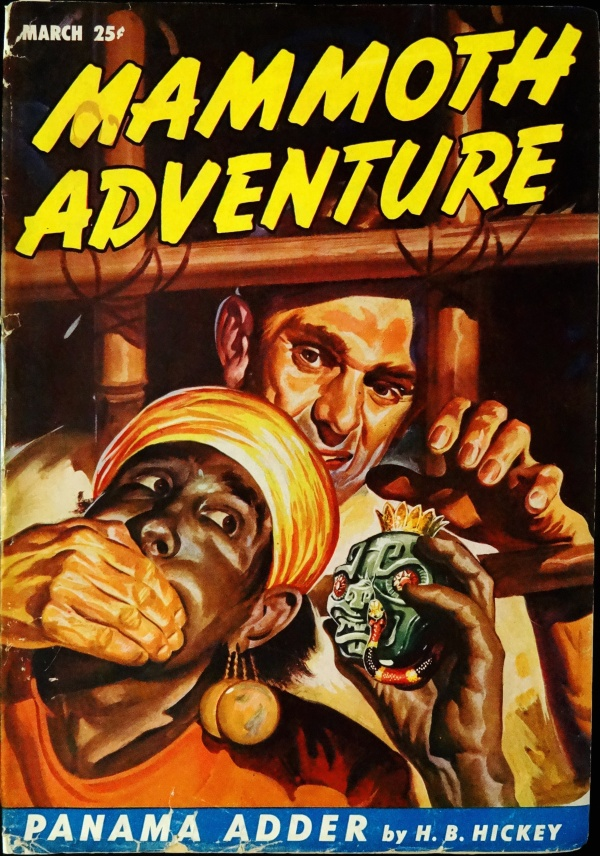 Mammoth Adventure Vol. 2, No. 2 (March, 1947). Cover Art by Arnold Kohn