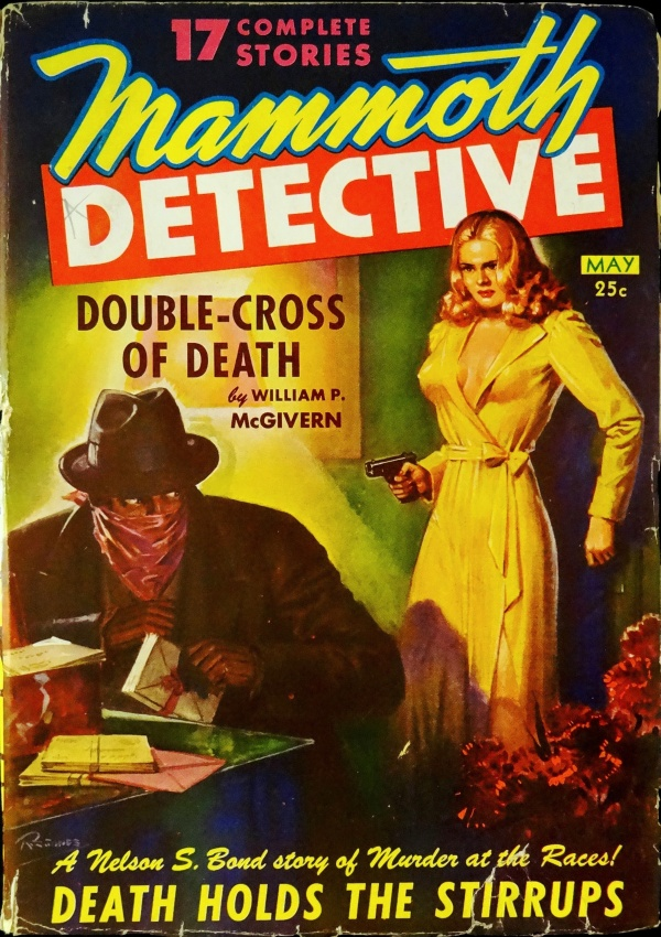 Mammoth Detective Vol. 2, No. 3 (May,1943). Cover Art by Robert Gibson Jones