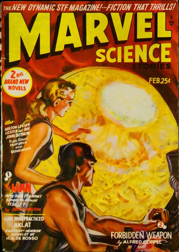 Marvel Science Stories Vol. 3, No. 2 (Feb., 1951). Cover Art by Norman Saunders