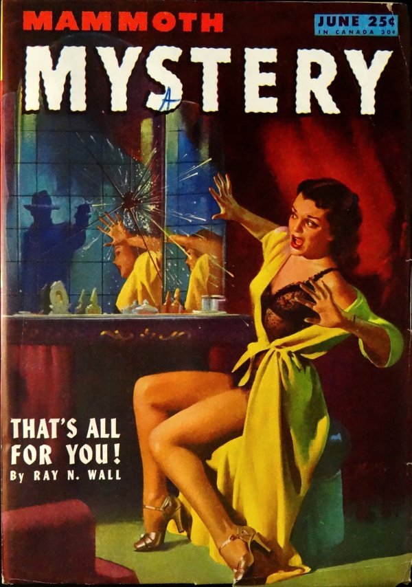 Mammoth Mystery Vol 2, No. 3 (June, 1946). Cover Art by Arnold Kohn