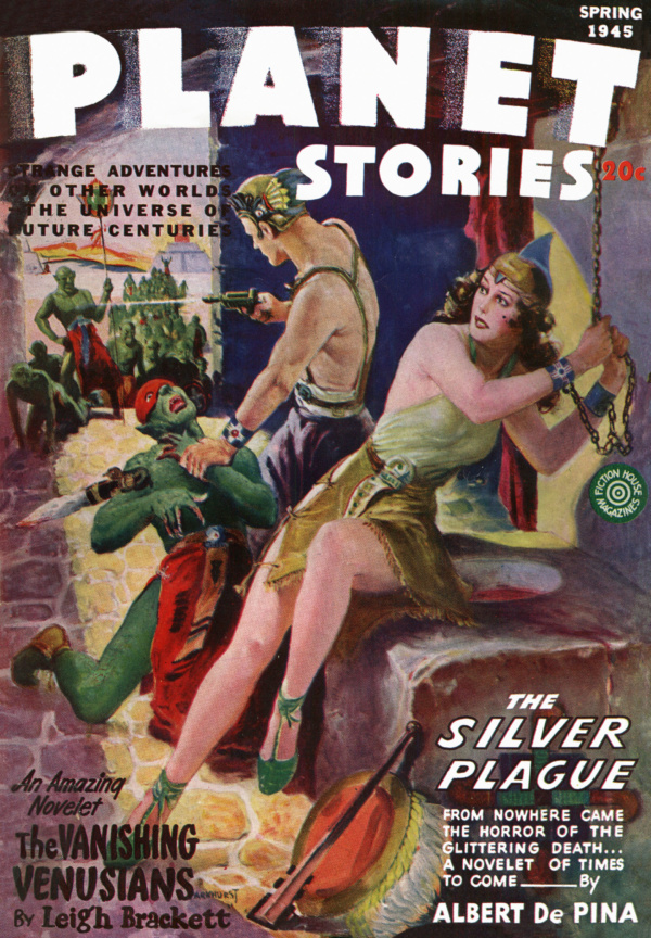 Planet Stories Vol. 2, No. 10 (Spring 1945). Cover by Harry Lemon Parkhurst