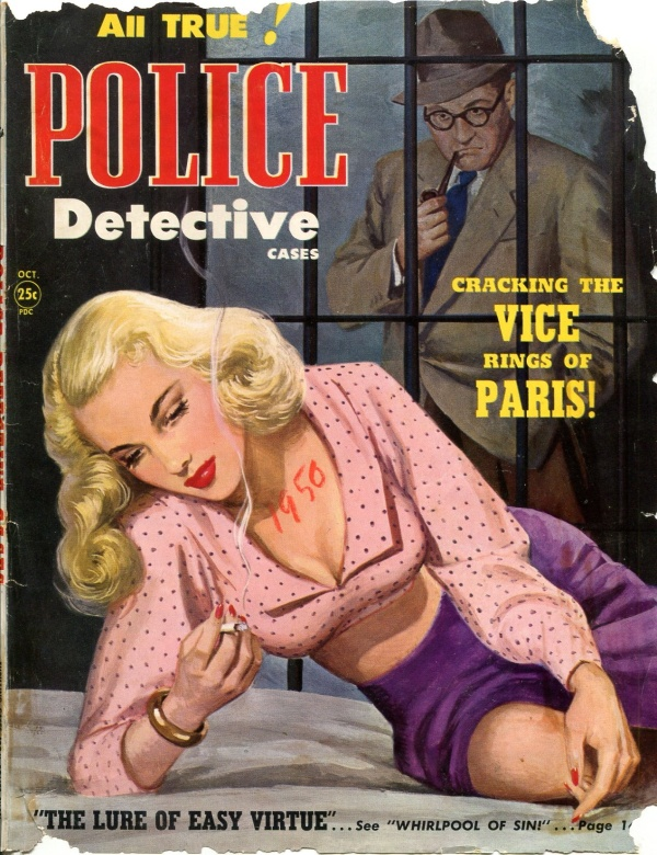 Police Detective Cases October 1950