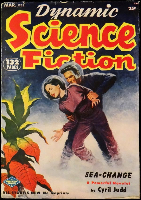 Dynamic Science Fiction Vol. 1, No. 2 (March, 1953). Cover Art by Milton Luros