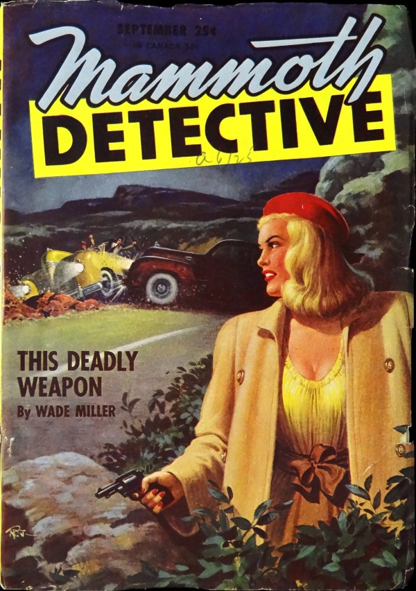 Mammoth Detective Vol. 5, No. 6 (Sept., 1946). Cover Art by R. Gibson Jones