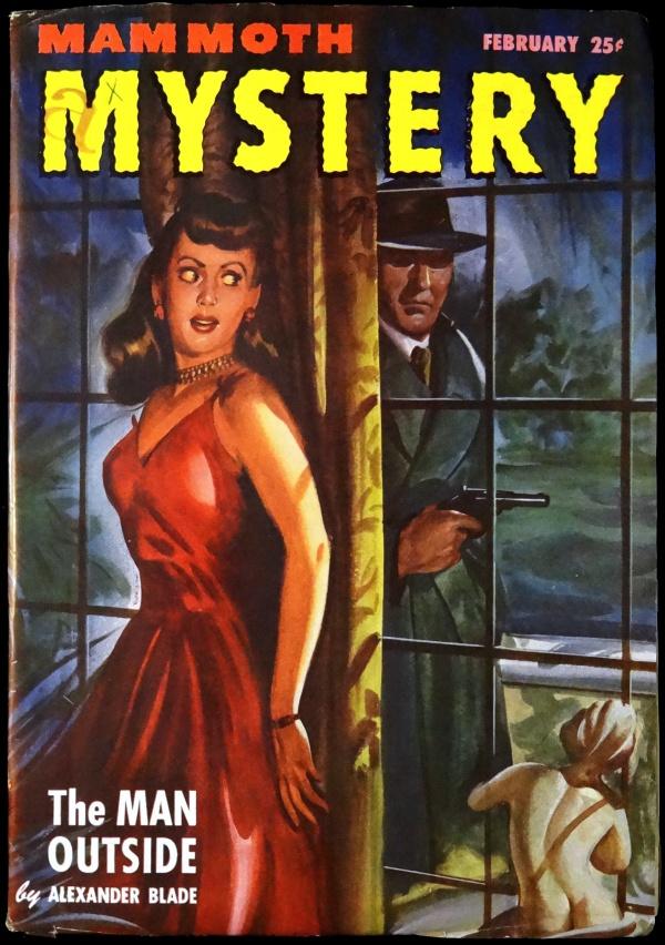 Mammoth Mystery Vol. 3, No. 1 (Feb., 1947). Cover Art by Arnold Kohn