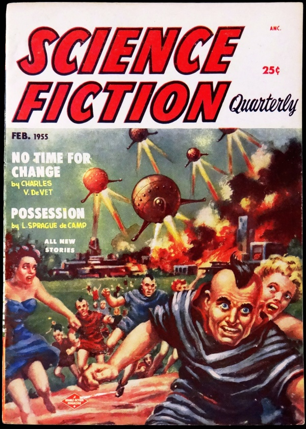Science Fiction Quarterly Vol. 3, No. 4 (Feb., 1955). Cover Art by Frank Kelly Freas