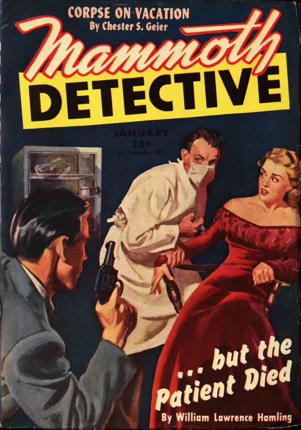 Mammoth Detective Vol. 5, No. 1 (Jan., 1946). Cover Art by