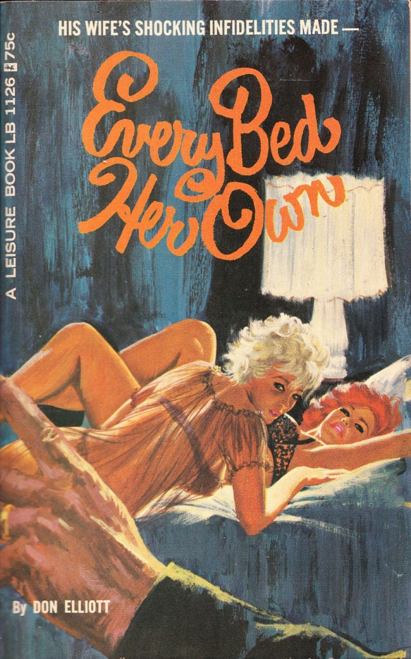 Leisure Books LB1126 - Every Bed Her Own (1966)
