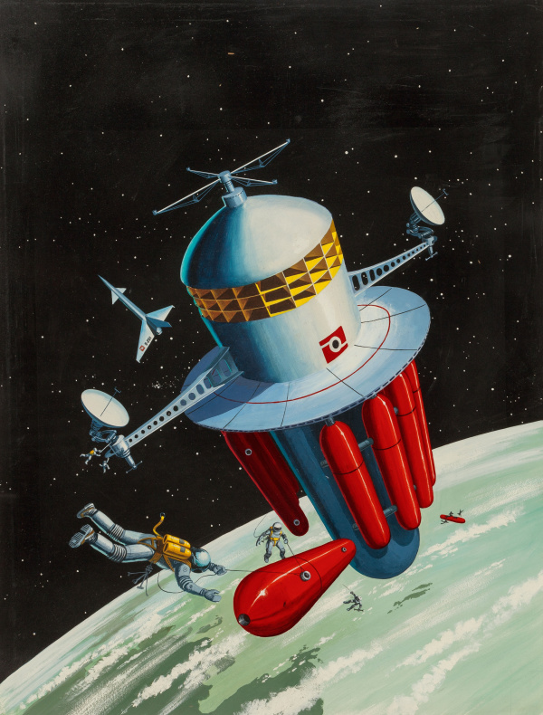 Refueling the Space Station, Orbit Science Fiction No. 4 magazine cover
