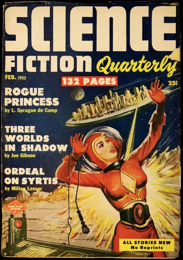 Science Fiction Quarterly Vol. 1, No. 4 (Feb., 1952). Cover Art by Milton Luros