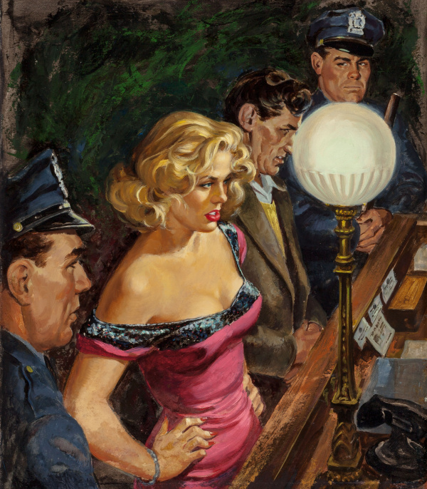 Detective magazine cover, June 1953