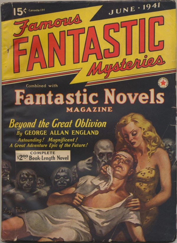 Famous Fantastic Mysteries Combined with Fantastic Novels Magazine, June 1941