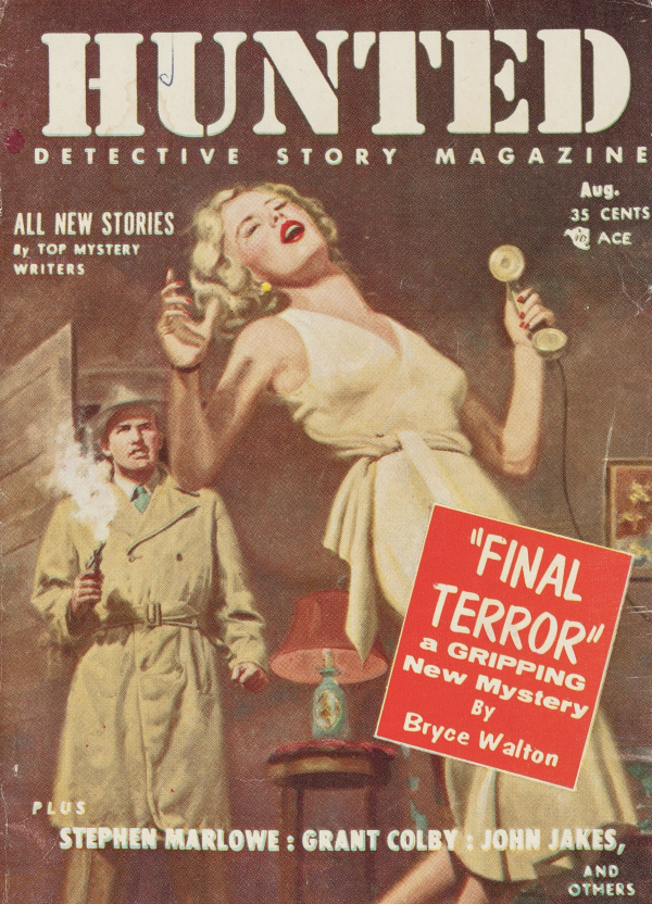 Hunted Detective Story, August 1955