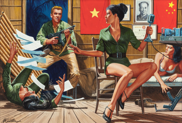 Saigon Sally's Sin Barracks, For Men Only magazine cover, May 1965
