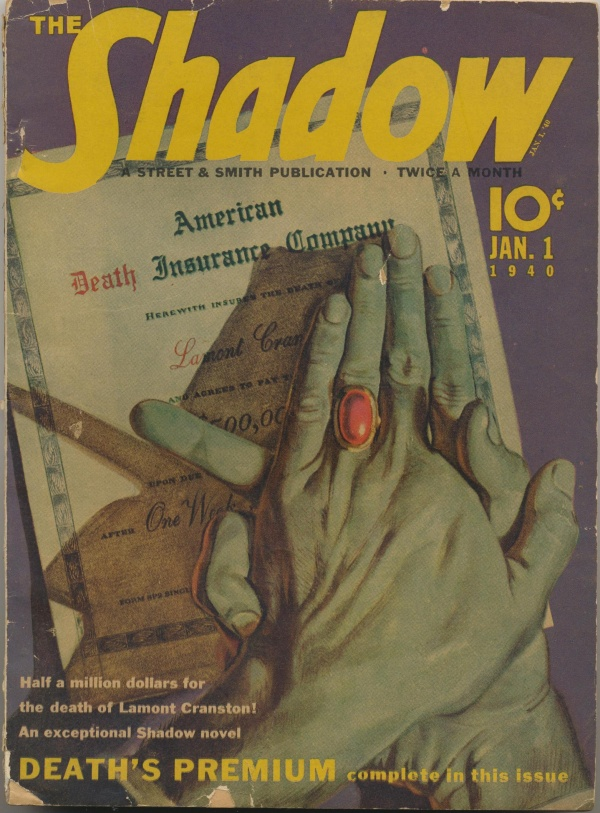 Shadow Magazine Vol 1 #189 January, 1940