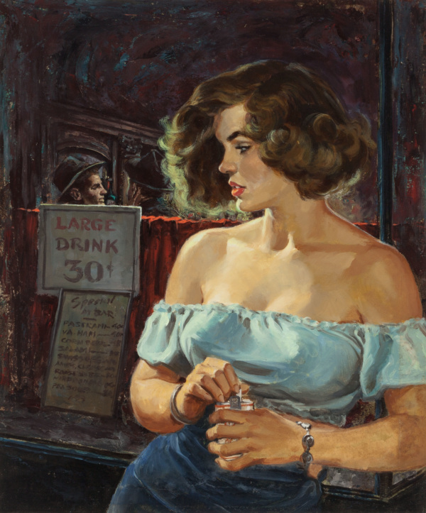 Stone Cold Wife, True Fact Crime magazine cover, June 1953