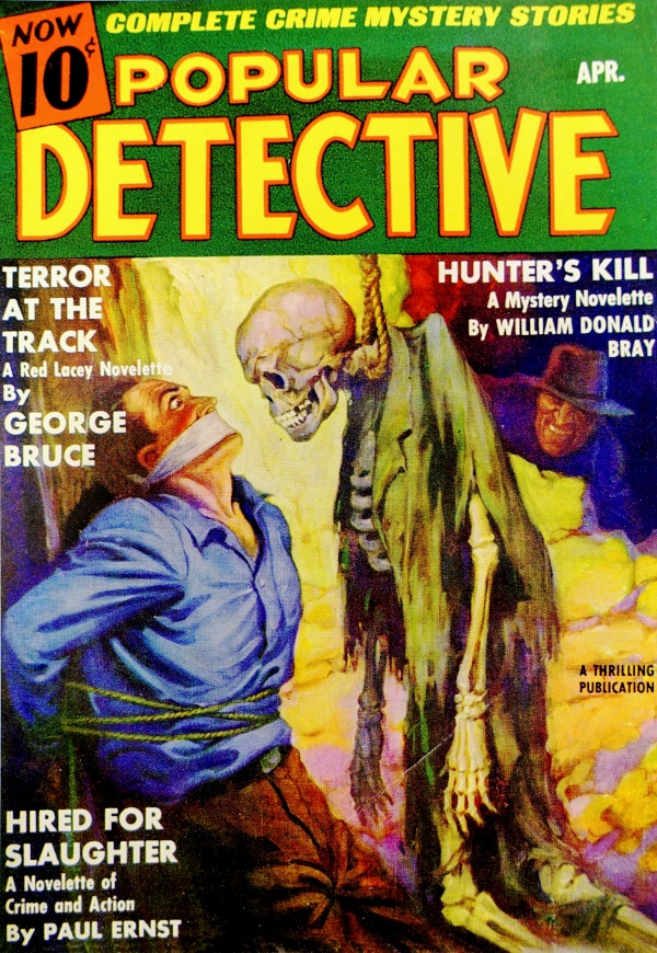Popular Detective Vol. 10, No. 3 (April, 1937). Cover by Unknown Artist