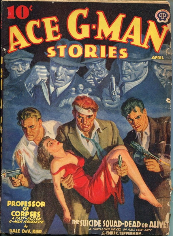 Ace G-Man Stories April 1940