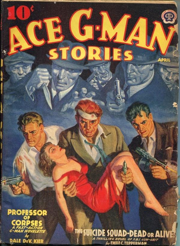 Ace G-Man Stories April 1940
