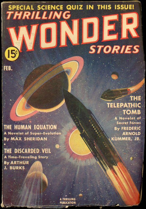 THRILLING WONDER STORIES. February 1939