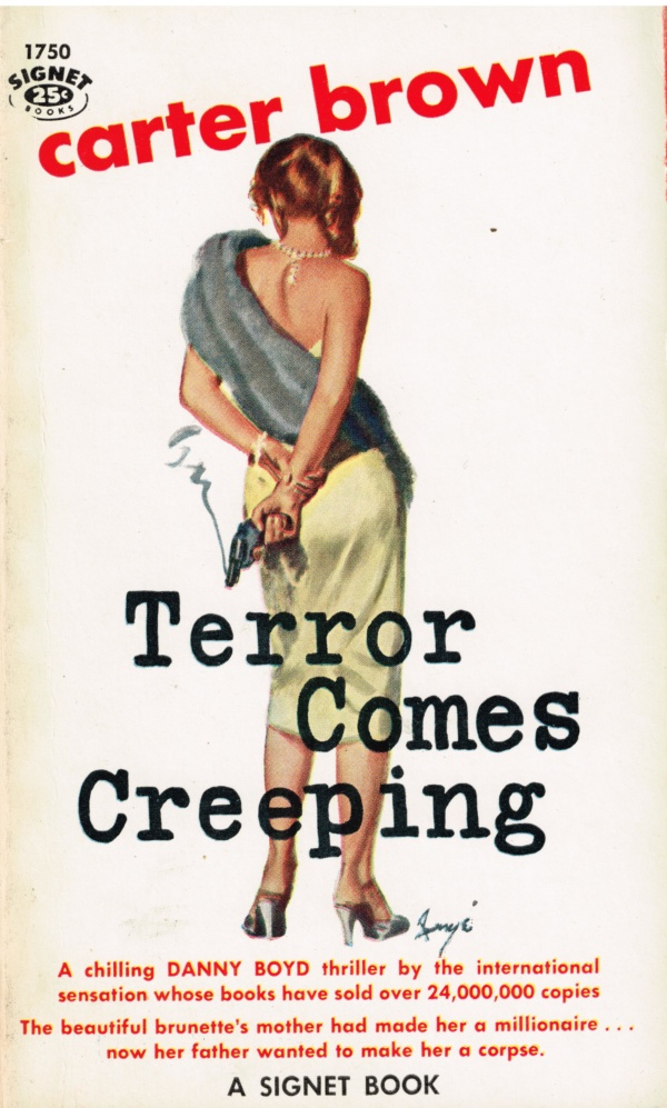Terror Comes Creeping Signet Book 1750 (1959)