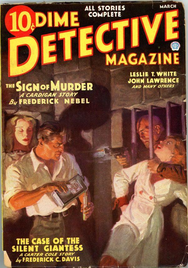 DIME DETECTIVE MAGAZINE. March 1936