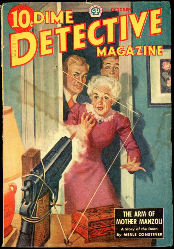 DIME DETECTIVE MAGAZINE. October 1944