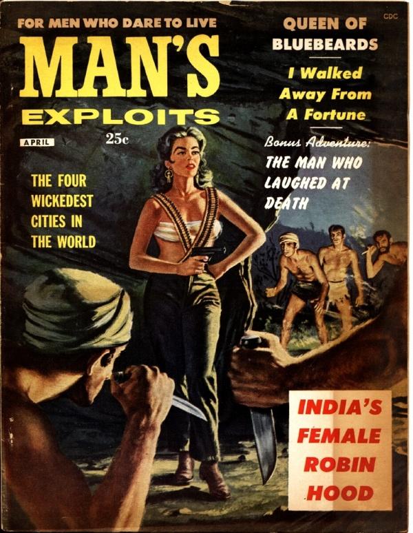 Man's Exploits April 1958