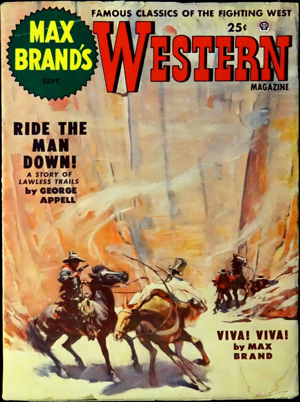 Max Brand's Western Magazine Vol. 7, No. 4 (Sept., 1953). Cover by H. W. Scott