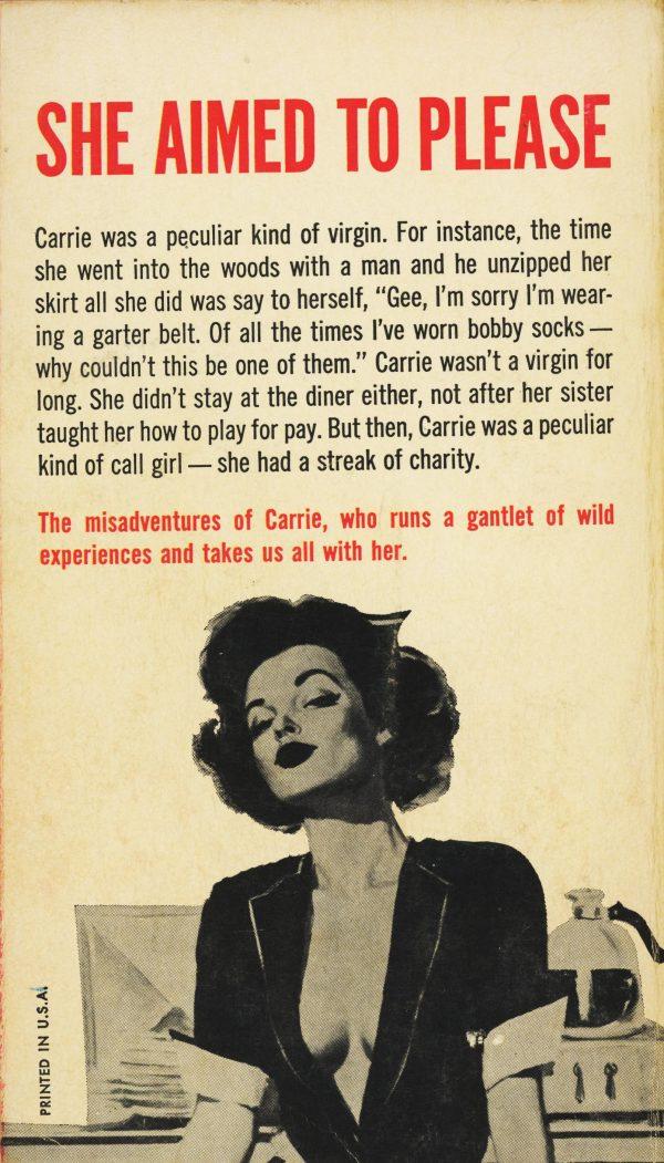 Midwood Books F215 - Amy Harris - Counter Girl (back)