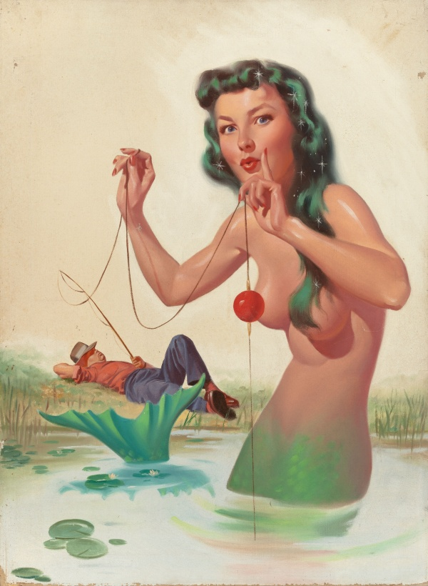 Mr. Margate's Mermaid, Imaginative Tales No. 4 magazine cover, March 1955