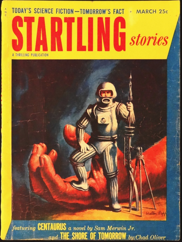 Startling Stories Vol. 29, No. 2 (March, 1953). Cover Art by Walter Popp