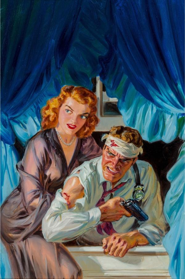 Glitter Street Nightmare, Black Mask magazine cover, May 1950