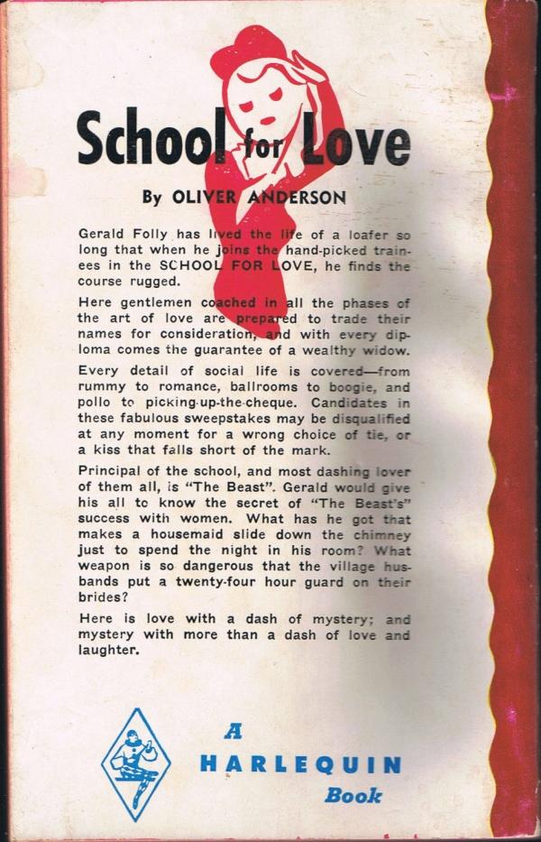 Harlequin #243 1953 back