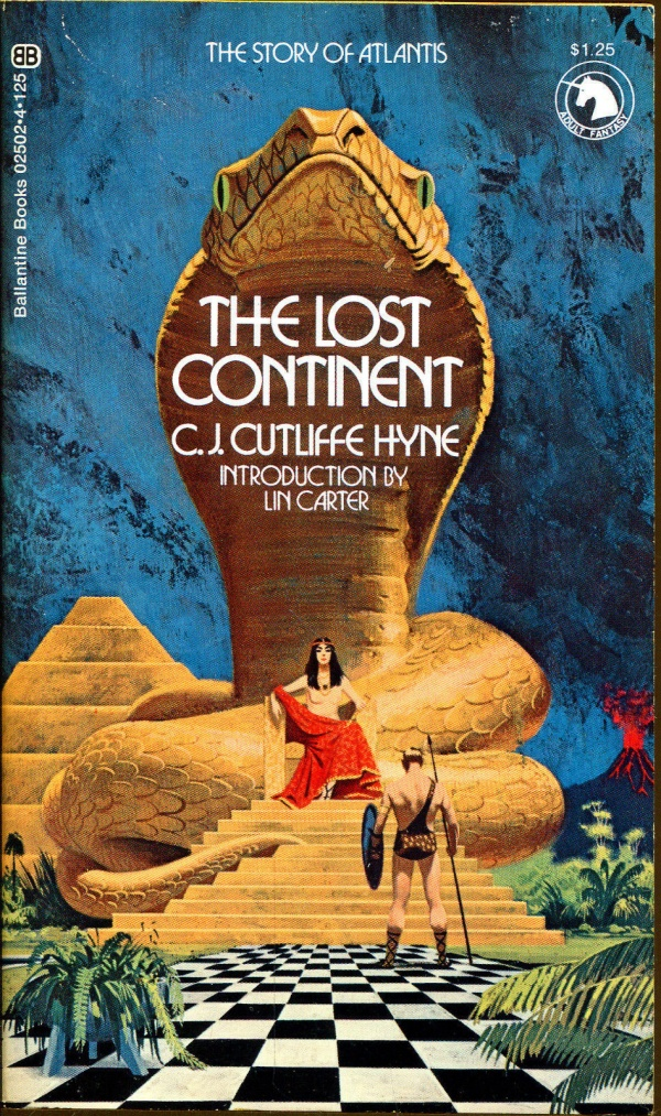 The Lost Continent Ballantine Adult Fantasy #02502-4, 1972