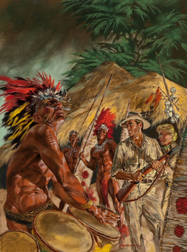 Among the Fierce Cannibals of Africa, Safari magazine cover, January 1957