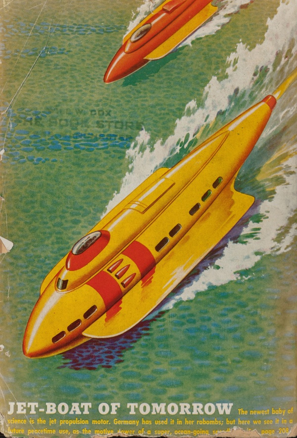 Fantastic Stories back cover, April 1945