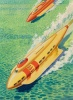 Jet-Boat of Tomorrow, Fantastic Stories back cover, April 1945 thumbnail
