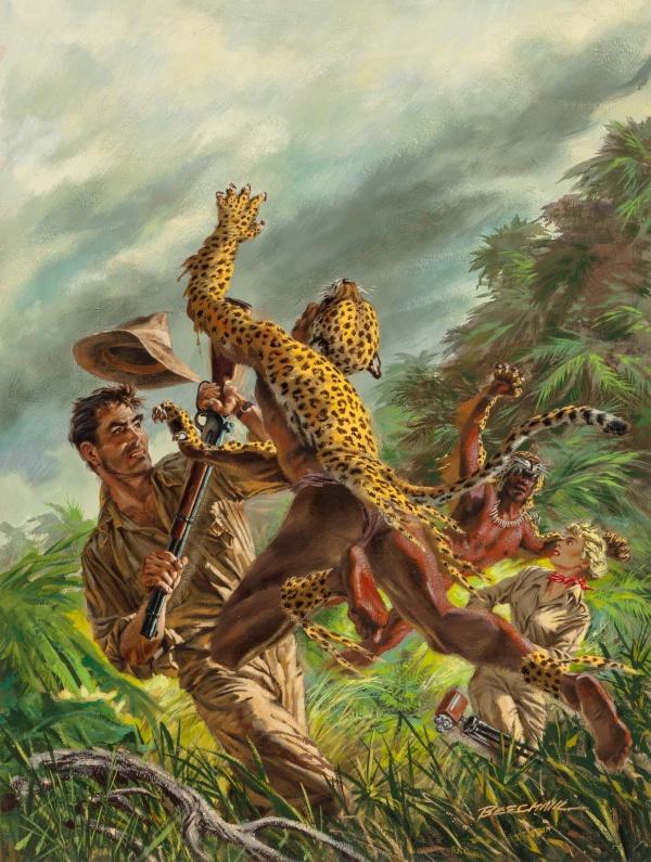Killer Leopardmen, Fury magazine cover, January 1957