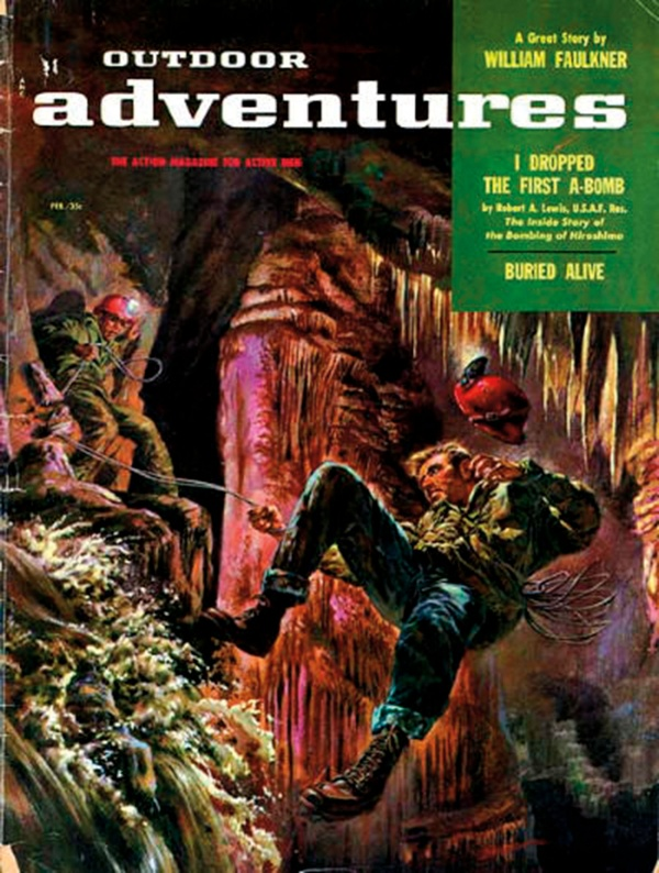 Outdoor Adventure magazine cover, February 1957