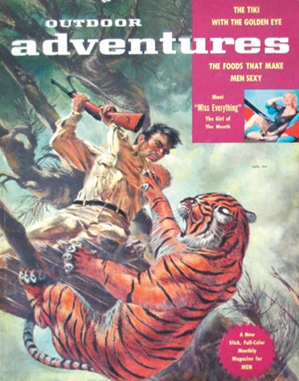Outdoor Adventures magazine cover, January 1957