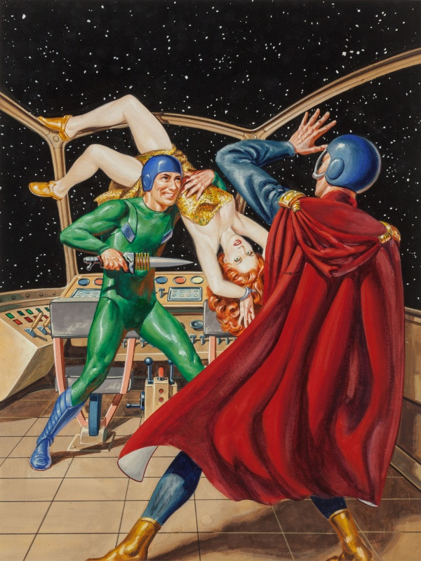 Starman Come Home!, Universe Science Fiction magazine cover, September 1954