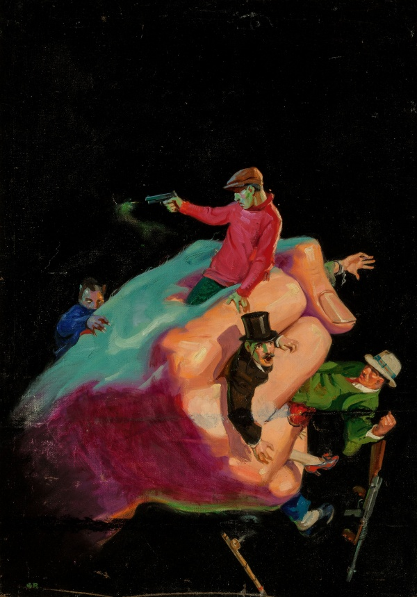 The Blackmail Ring, The Shadow magazine cover, August 1932