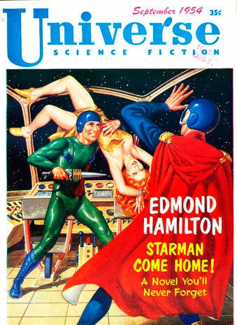 Universe Science Fiction magazine cover, September 1954