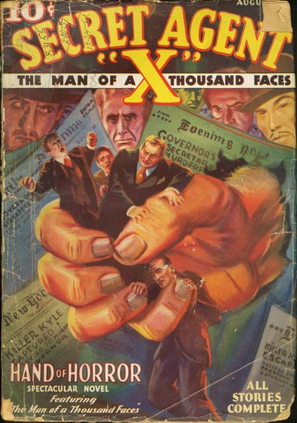 Secret Agent X August 1934